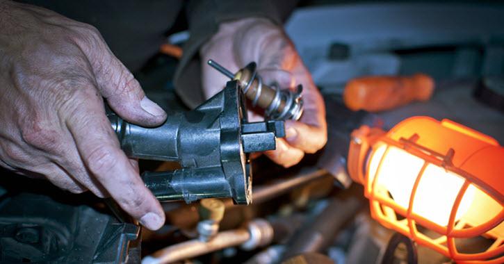 Jaguar Thermostat Housing Repair