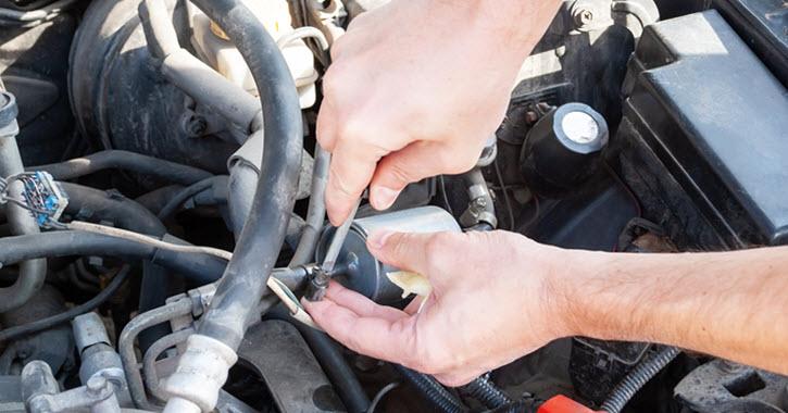 Ferrari Fuel Filter Inspection