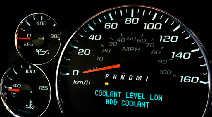 Jaguar Coolant Level Low Warning